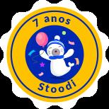 Selo comemorativo de 7 anos do Stoodi